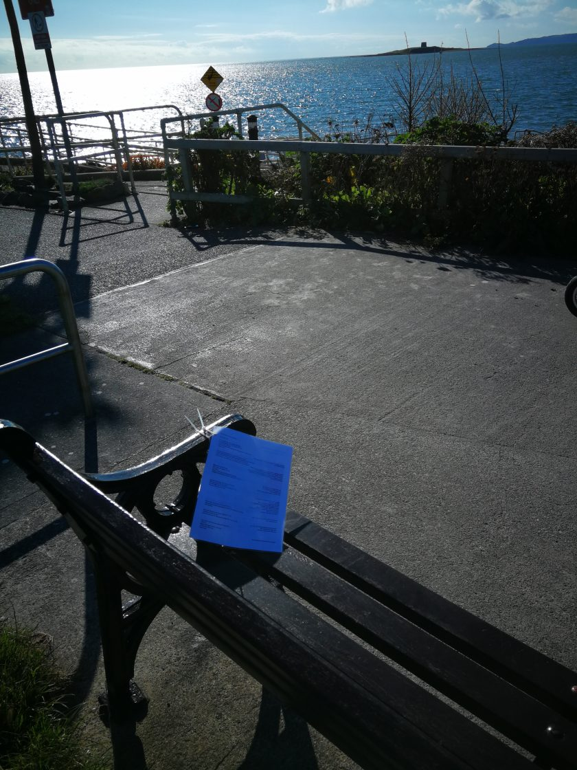 A poem on a bench